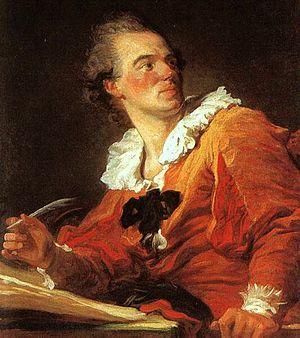 1769 in art - Image: Fragonard, Inspiration