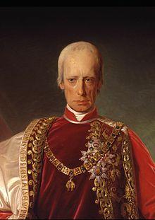 Împăratul Franz II & I (Francisc II & I) la vârsta de 64 de ani, 1832