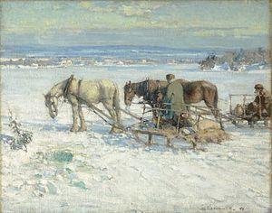 Franklin Brownell - Franklin Brownell - Peche sur glace, collines de la Gatineau, 1915