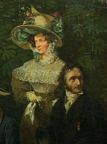 Henriette Sontag und Niccolò Paganini 1822, Ausschnitt eines Bildes von Franz Krüger (Quelle: Wikimedia)