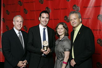 Nature (TV series) - Fred Kaufman and the crew of NATURE-Silence of the Bees at the 67th Annual Peabody Awards