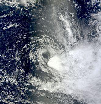 Cyclone Freda - A disorganized Cyclone Freda approaching New Caledonia on January 1