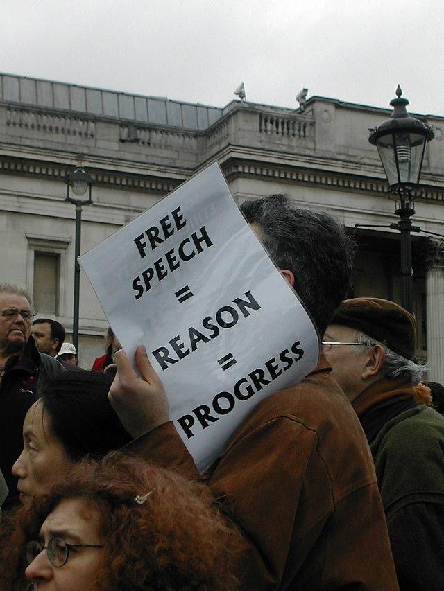 Free speech reason progress