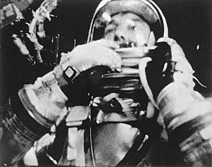 Astronaut Alan Shepard photographed in flight ...