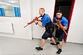 From left, U.S. Air Force Airman 1st Class Jeromy Walley and Senior Airman Nicholas Garcia, both first responders with the 86th Security Forces Squadron, clear a locker room during an active-shooter training 140409-F-YC884-320.jpg
