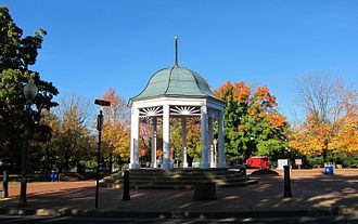 Front Royal, Virginia - The gazebo at the Village Commons in Front Royal