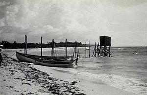 Küste von Fuga Island im Jahr 1927
