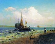 Fyodor Vasilyev On the river Windy day 10998.jpg