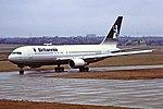 G-BLKV B767 Britannia BHX 08-02-87 (27922306457).jpg