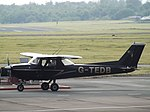 G-TEDB Reims F150L Gloucestershire Airport, May 2016.jpg