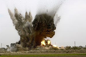 United States Air Force Tactical Air Control Party - Six GBU-38 munitions are dropped by a B-1B Lancer aircraft onto an insurgent torture house and prison in Northern Zambraniyah, Iraq, March 10, 2008. The munitions drop was cleared by a USAF JTAC from Fort Hood Texas, and deployed with the 2nd Brigade Combat Team, 3rd Infantry Division.