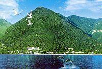 Vista de Gagra desde el Mar Negro