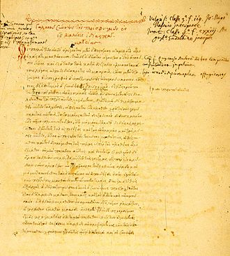 Galen - Galen. De pulsibus. (Manuscript; Venice, c. 1550). This Greek manuscript of Galen's treatise on the pulse is interleaved with a Latin translation.