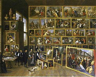 L'Archiduc Léopold-Guillaume dans sa galerie à Bruxelles