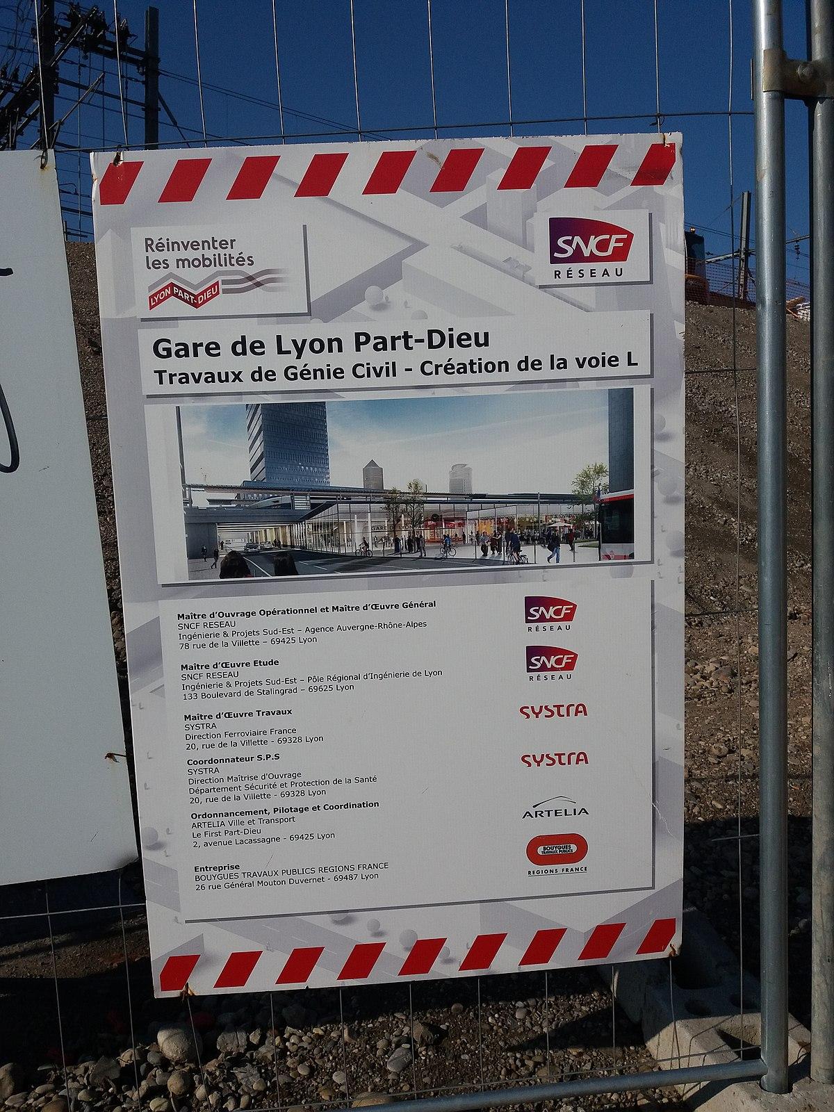 Entreprise D Architecture Lyon file:gare de lyon-part-dieu - plaque travaux de la voie l