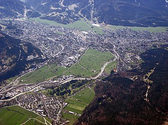 Garmisch-Partenkirchen - Aerial view of Garmisch-Partenkirchen
