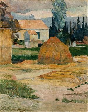 Landscape near Arles - Image: Gauguin, Paul Landscape near Arles Google Art Project