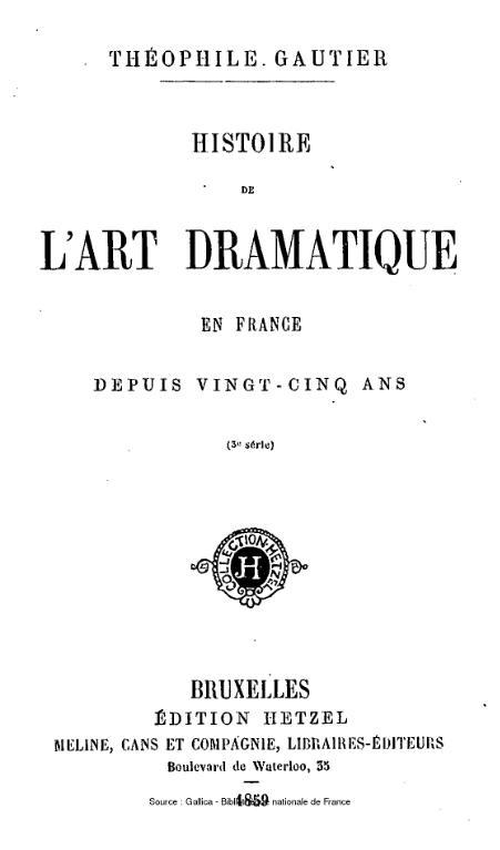 Fichier gautier histoire de l art dramatique en france for Art dramatique