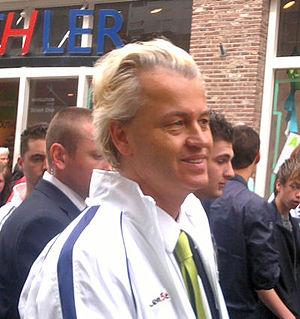 Nederlands: Geert Wilders op campagne in zwolle
