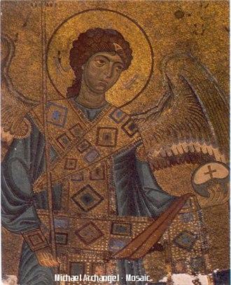 Gelati Monastery - Image: Gelati archangel