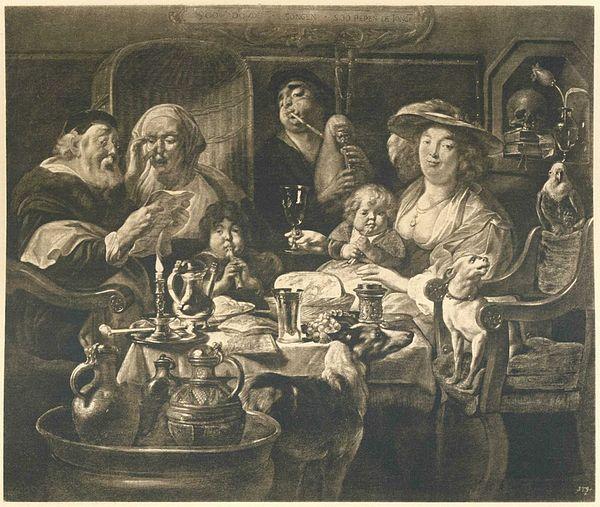 Sir Anthony Van Dyck, LEITER EINES JUNGEN mit gefalteten