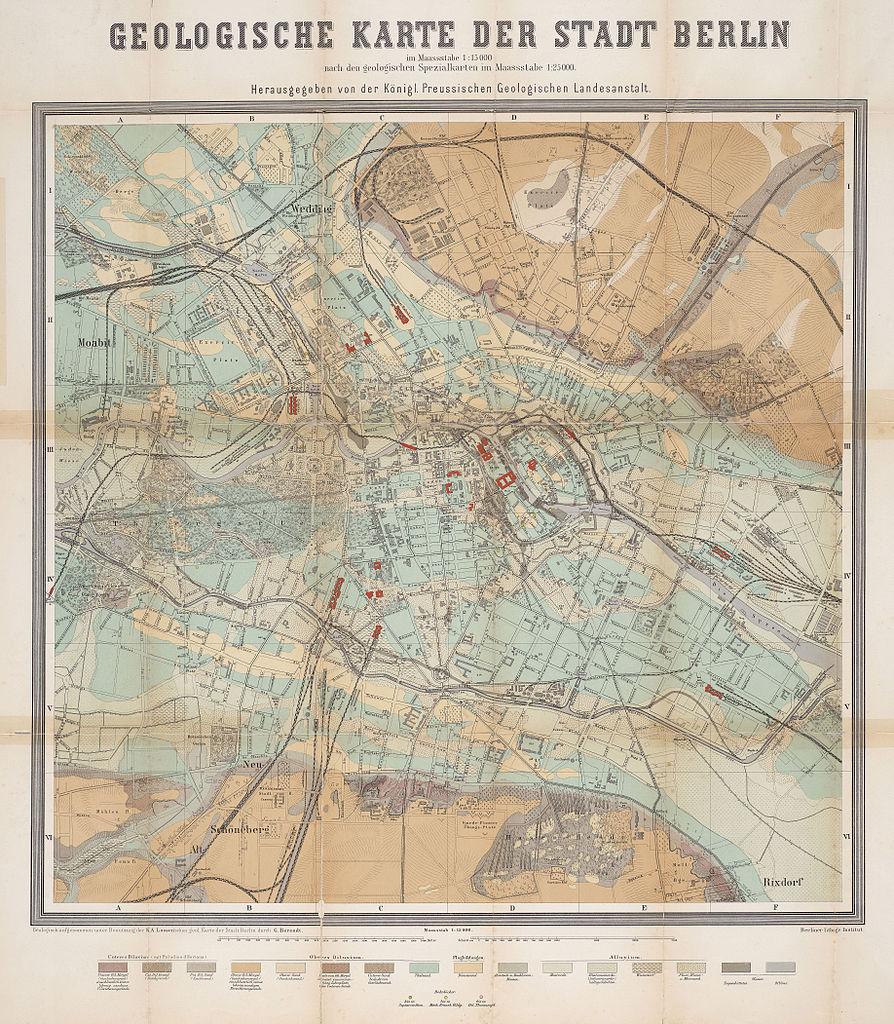 Geologische Karte der Stadt Berlin, im Maassstabe 1:15000, 1885