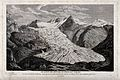 Geology; a large glacier in the Rhone mountains. Engraving b Wellcome V0025130.jpg