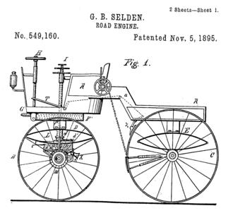 George B. Selden - Image: George B Selden Road engine Pat 549,160 drawing