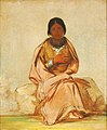 George Catlin - Chee-a-ex-e-co, Daughter of Deer without a Heart - 1985.66.310 - Smithsonian American Art Museum.jpg