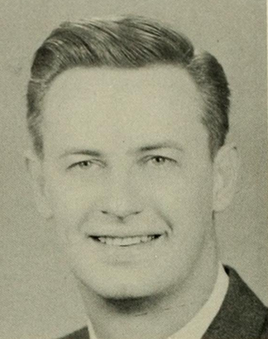 George Tucker (American football) - Tucker pictured in Phi Psi Cli 1960, Elon yearbook