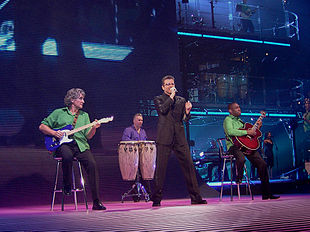 George Michael durante un concerto a Monaco in ottobre 2006