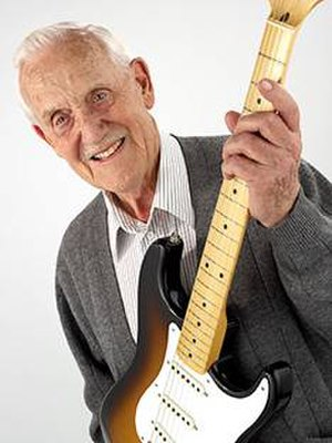 George William Fullerton - George William Fullerton in 2007 shown here with the Fullerton 50th Anniversary Stratocaster guitar.