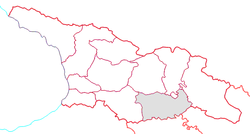 Location of Kvemo Kartli within Georgia