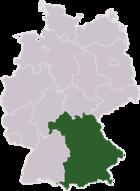 Γεωγραφική θέση του κρατιδίου στον χάρτη της Γερμανίας