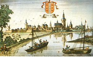 Gaspar Bouttats - View of Gouda, after a drawing by Jan Peeters