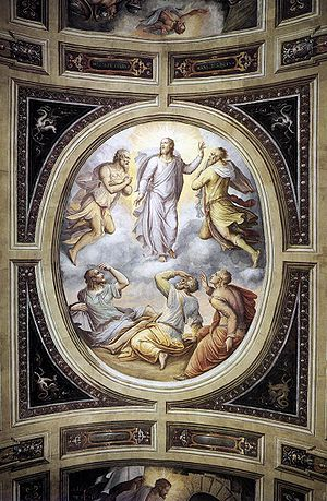 1555 in art - Image: Gherardi, Cristofano Transfiguration 1555