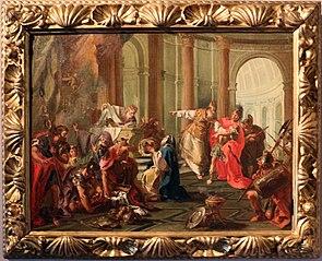 Crassus sacks the temple of Jerusalem (Pittoni)
