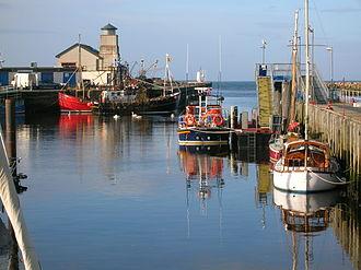 Girvan - The RNLI Lifeboat and fishing fleet