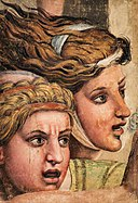 Giulio Romano (c.1499-1546) - Tapestry Cartoon, Two Heads from the Massacre of the Innocents - NG 638 - National Galleries of Scotland.jpg