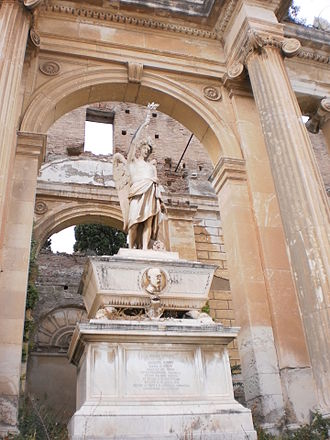 Giuseppe Natoli - The monument to Natoli by Letterio Gangeri, in the Gran Camposanto di Messina