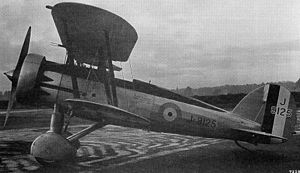 Gloster Gauntlet - J9125 as the Gauntlet predecessor S.19A in December 1932: Jupiter VIIF engine