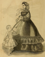 Godey's Lady's Book (1861) - THE PROMENADE DRESS.png