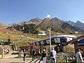 Gondola from Chimbulak (2260 m) to the Talgar Pass (3200 m) in summer.jpg