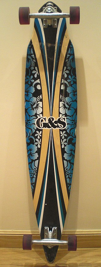 Longboard (skateboard) - Image: Gordon Smith Aloha Blue Pintail 44 inches Longboard