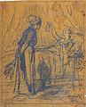 Grévin A. attr. - Pencil - Une bourgeoise et sa domestique - 21.8x26.5cm.jpg