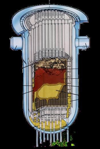 Configurazione finale del core del reattore TMI-2, dopo l'incidente