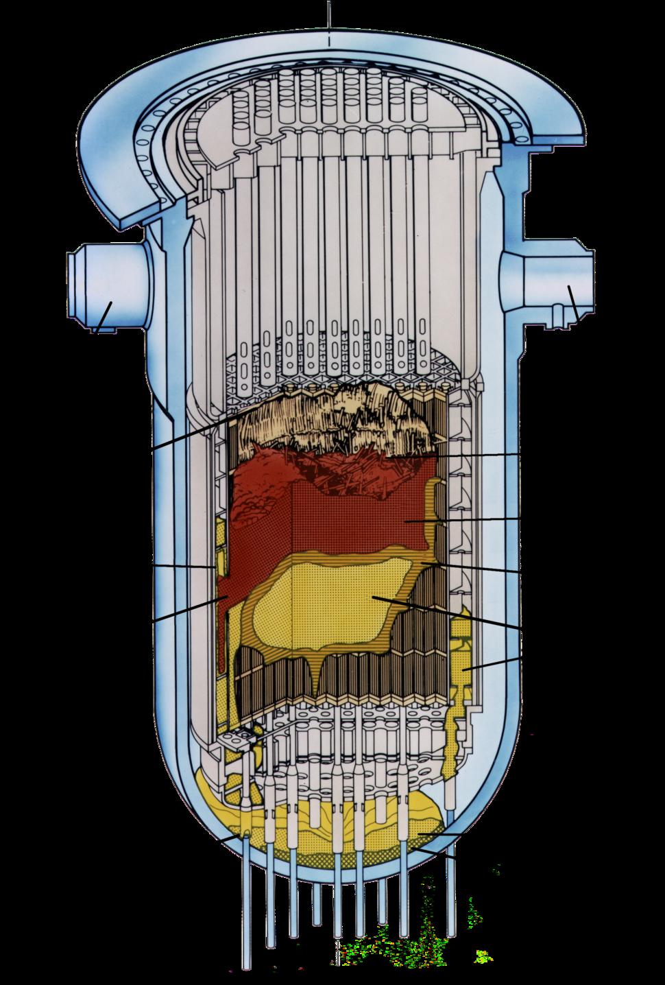 Graphic TMI-2 Core End-State Configuration