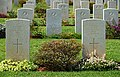 Gravestones on the Souda Bay War Cemetery. Crete, Greece.jpg