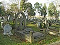 Graveyard at Waterfall Road Cemetery, Southgate, N14 - geograph.org.uk - 629431.jpg