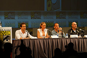 Mark Strong - Strong with the cast of Green Lantern at the 2010 San Diego Comic-Con International